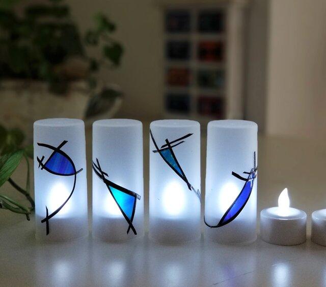 充電式LEDキャンドル12個セット 『琉球藍2』の画像1枚目