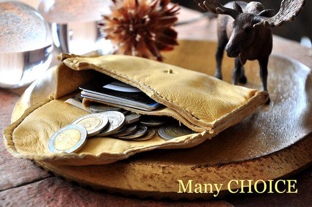 やみつきエルクのミニマム財布(レモンドロップ)の画像1枚目