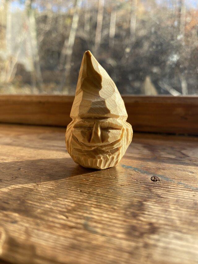 小人 木彫りの画像1枚目