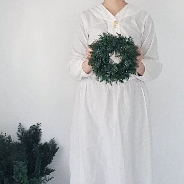 クリスマスリース受注販売品 ☆グリーンリース中の画像1枚目