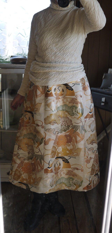 帯からAラインスカートの画像1枚目