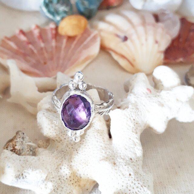 【14号】Amethyst silver925 ringの画像1枚目
