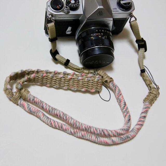 本数限定/アスレチックカラーヤーンの麻紐ヘンプカメラストラップの画像1枚目