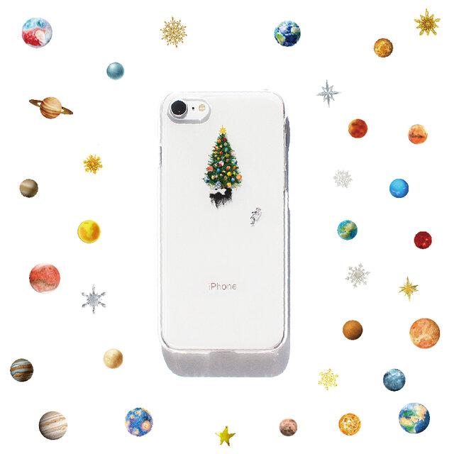 宇宙でクリスマス プリントケース iPhone11 iPhoneケース各種 スマホケースの画像1枚目