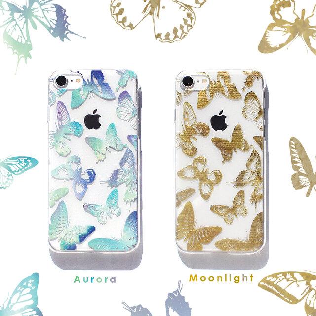 蝶々が飛び交うトキメキスマホケースⅡ バタフライ iPhone11 iPhoneケース各種 アンドロイドの画像1枚目