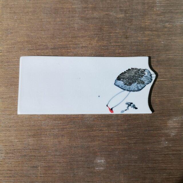板皿(ヒョロヒョロと鳥)の画像1枚目