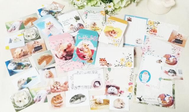 新作!写真全部セット★ハムスターポチ袋&カード&シール★の画像1枚目