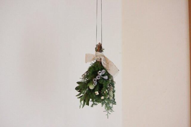 フライングクリスマススワッグ(白)の画像1枚目