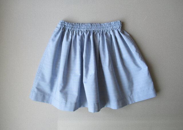 ギャザースカート 90cm/blueの画像1枚目