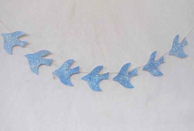 水晶と雪の鳥のガーランドの画像1枚目