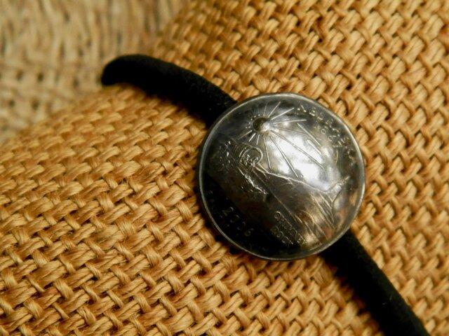 #H121 50State Quarters USA Coin Hair Elasticの画像1枚目