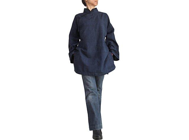 ジョムトン手織り綿チャイナチュニック(B-514-04)の画像1枚目