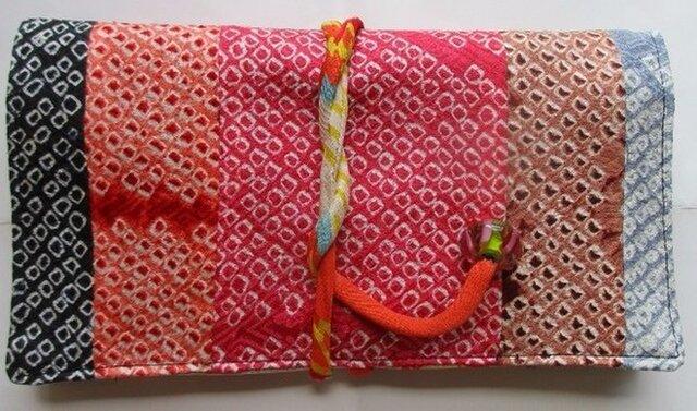 4552 絞りの着物で作った和風財布・ポーチ #送料無料の画像1枚目