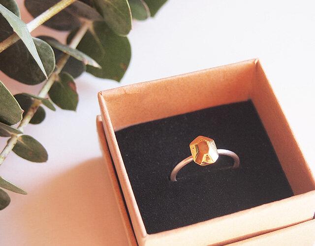 多面体の指輪(長方形) 14.5号の画像1枚目