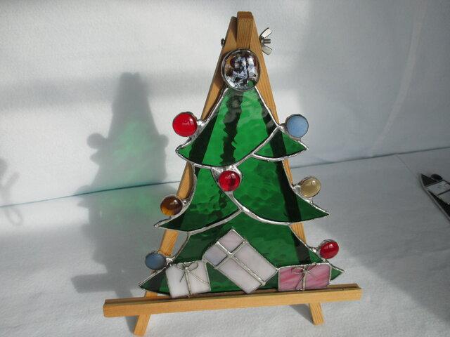 ステンドグラス クリスマス ツリーの画像1枚目