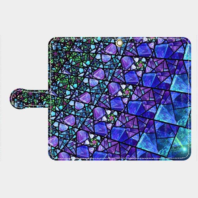ステンドグラス モチーフ (サファイアブルー) galaxy、Xperia 等多機種対応の画像1枚目
