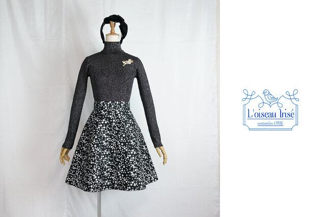 星ジャガードのフレアースカートの画像1枚目