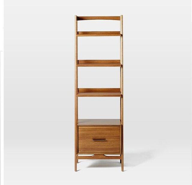 オーダーメイド 職人手作り 北欧風ディスプレイ 収納ラック 本棚 シンプル 天然木 木目 家具 木工 サイズオーダー可の画像1枚目