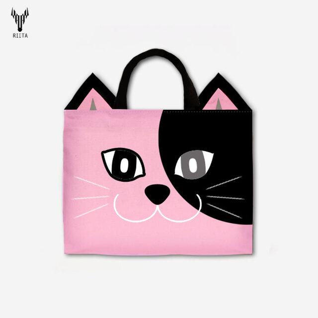 PinkCatのレッスンバッグ ブラック×ピンク<2020年新作>の画像1枚目