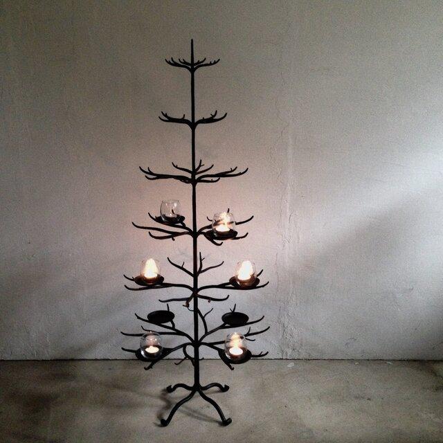 ロートアイアン製クリスマスツリーの画像1枚目