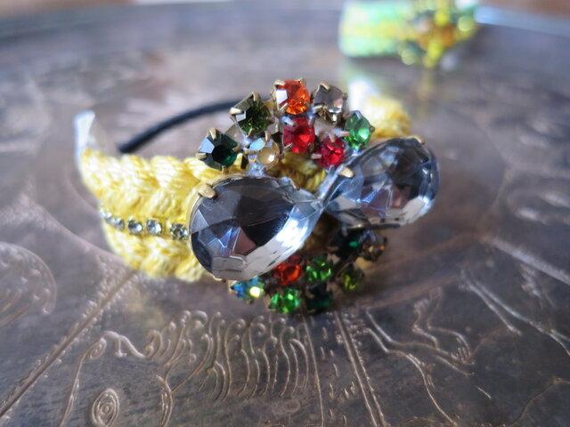 ビジューヘアゴム vintage bijou hair tie <HTB2-1219>の画像1枚目