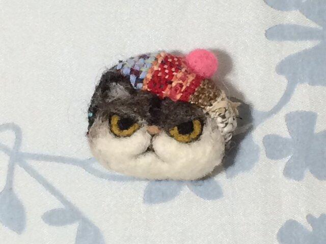 ブローチ  チャペ※ベレー帽の画像1枚目