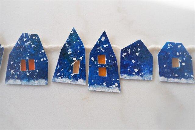 小さな雪の町のガーランド 3の画像1枚目