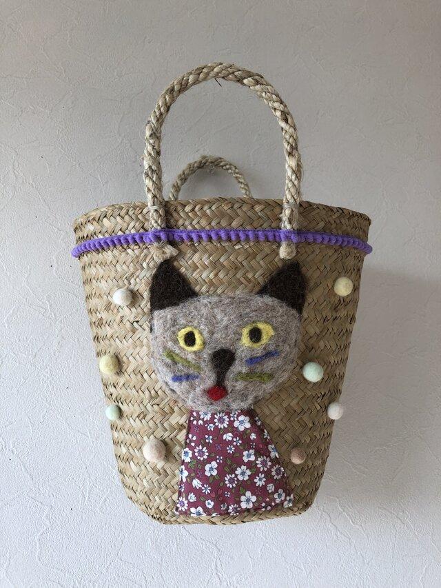 koruri × colore ネコのカゴバッグの画像1枚目