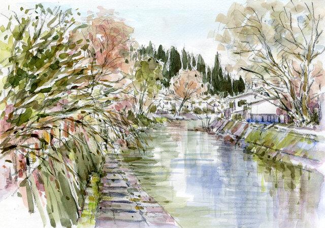 注文制作します 水彩画原画 冬の飛騨高山1(#392)の画像1枚目