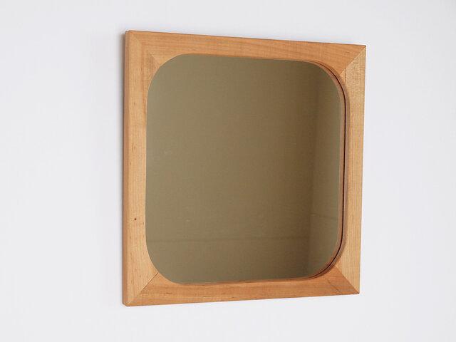 木製 鏡 桜材 ミラーの画像1枚目