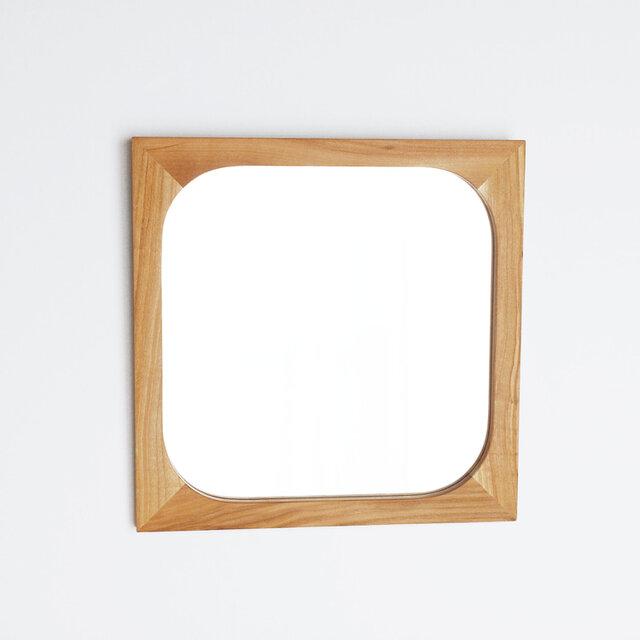 木製 角丸 鏡 桜材2 ミラーの画像1枚目