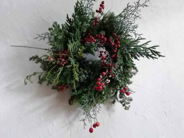 野山のクリスマスwreathの画像1枚目