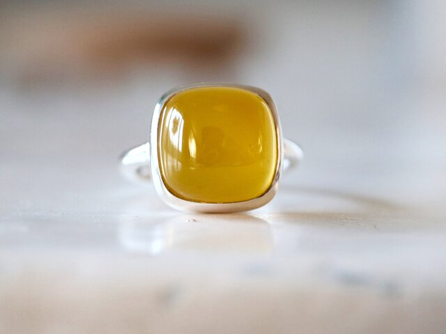 パプリカ風味のイエローカルセドニー ringの画像1枚目