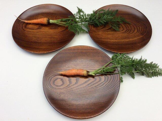 キハダの木の皿 3枚セット #622の画像1枚目