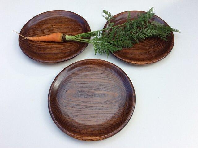 キハダの木の皿 3枚セット #623の画像1枚目