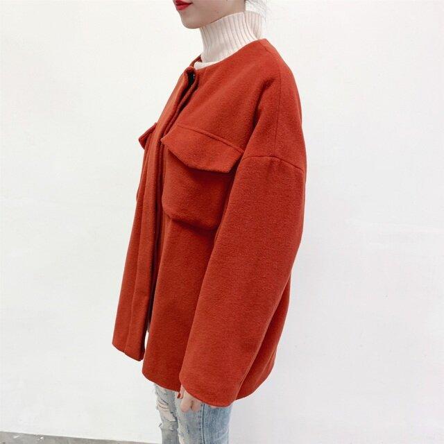 en-enウール95%ほぼ羊毛・ジャケット・レンガ赤の画像1枚目