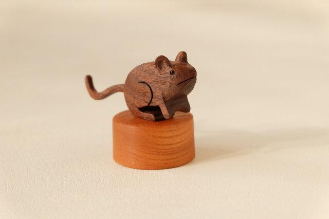 福ネズミ (ウォールナット+ケヤキ)の画像1枚目