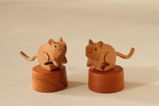 福ネズミ (チェリー+ケヤキ)の画像1枚目