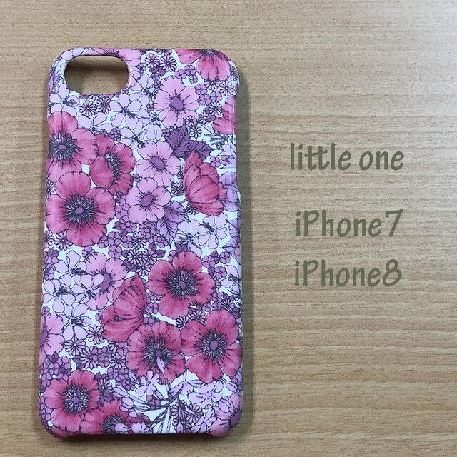 【リバティ生地】グロリア・フラワーズピンク iPhone7 & iPhone8の画像1枚目