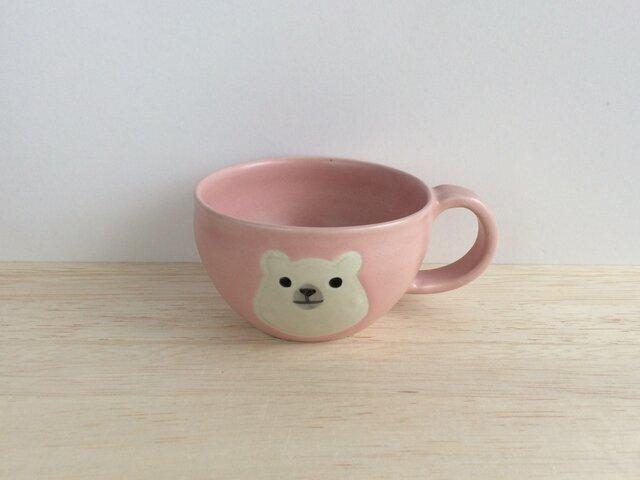 シロクマの丸マグ(ピンク)の画像1枚目