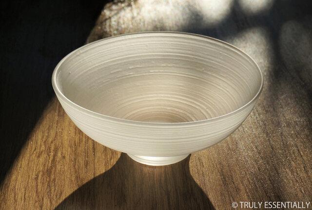 無色透明ガラスの器 -「 The Vessel of Light - 月明かりの器 」● 直径15cmの画像1枚目