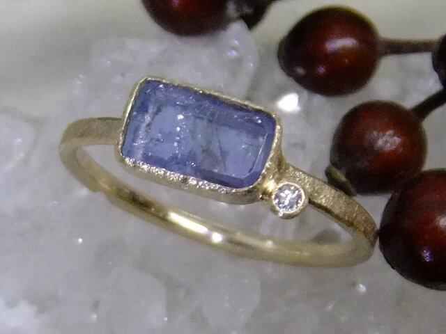 ジェレメジェバイト*K14lunapinkgold ringの画像1枚目