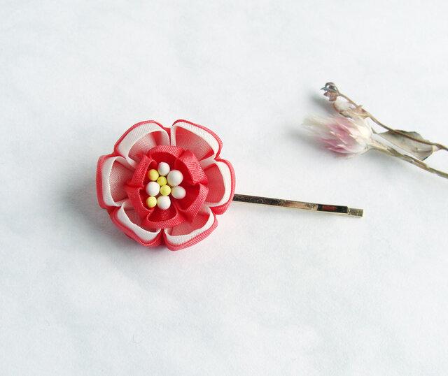 つまみ細工 祝い花のヘアピン《お正月 七五三》の画像1枚目