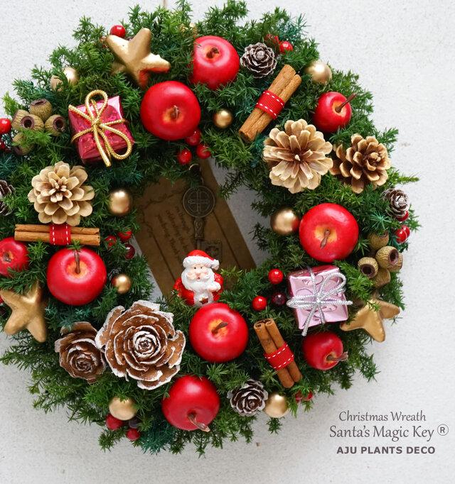 クリスマスリース(2219)~Santa's Magic Key(R)~ 23cmの画像1枚目