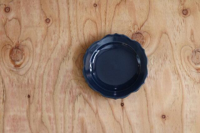 稜花皿 小 青の画像1枚目