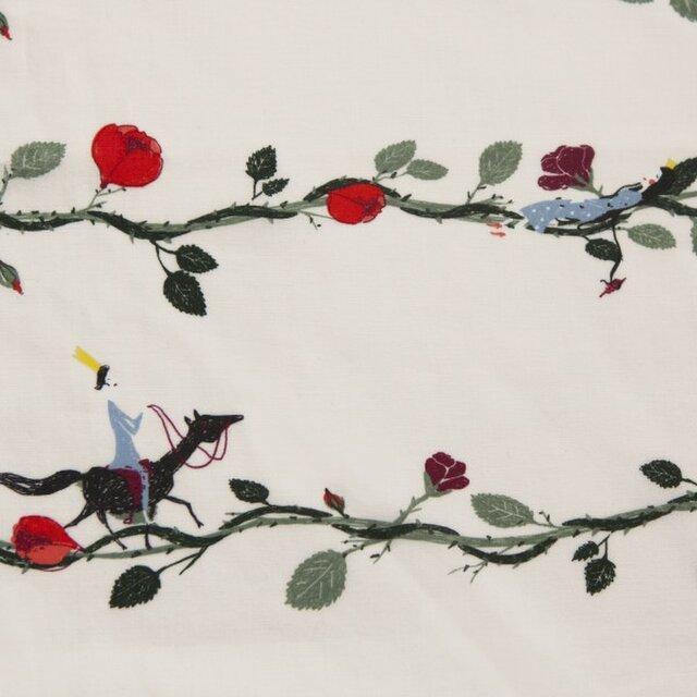 ドイツ オーガニックコットンカットクロス-ボイル 眠り姫 ペールピンクの画像1枚目