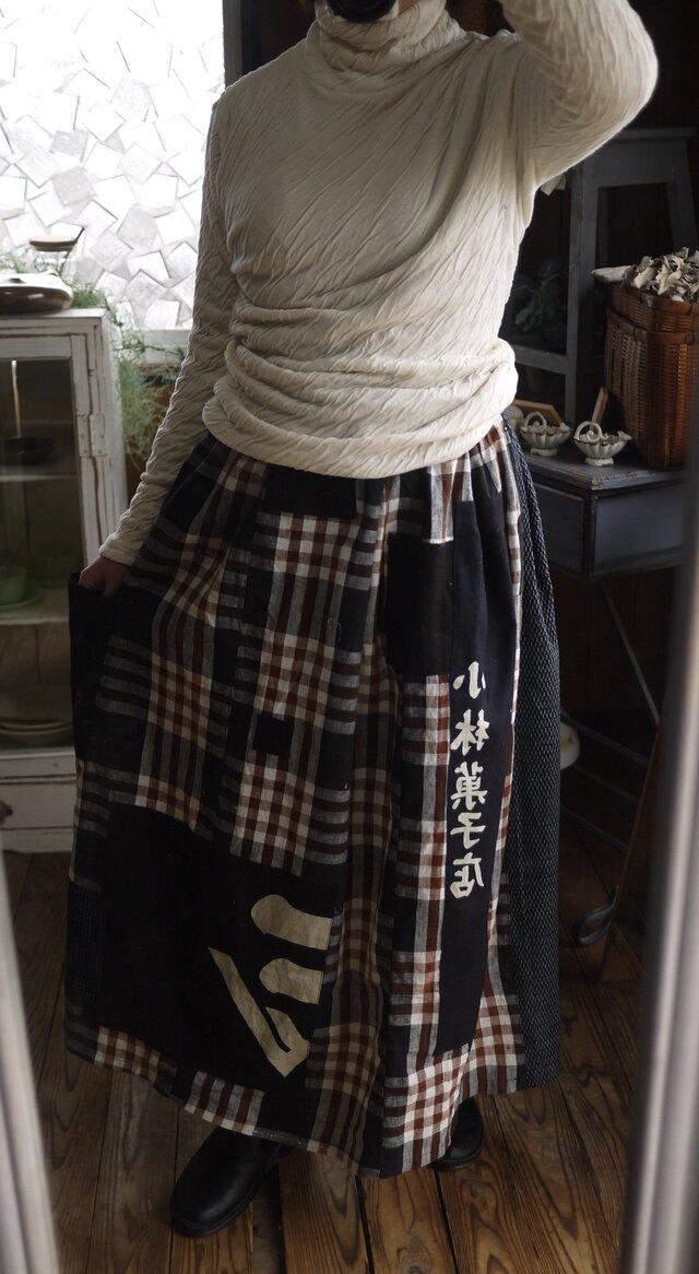古布いろいろのギャザースカートの画像1枚目