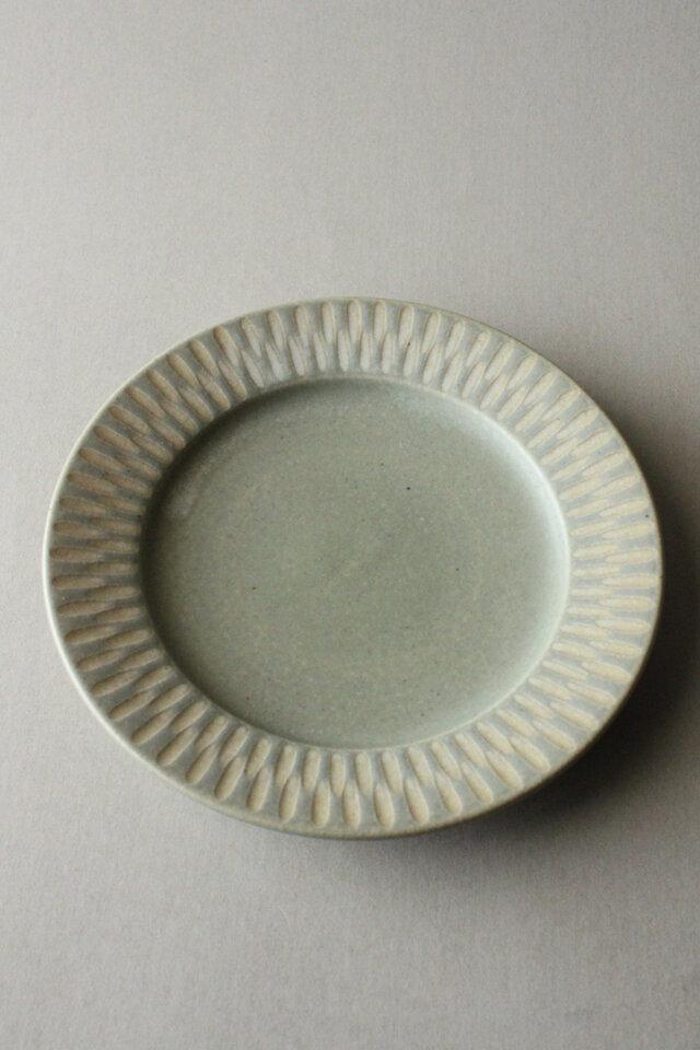 6寸リム皿 ライトペパーミントの画像1枚目