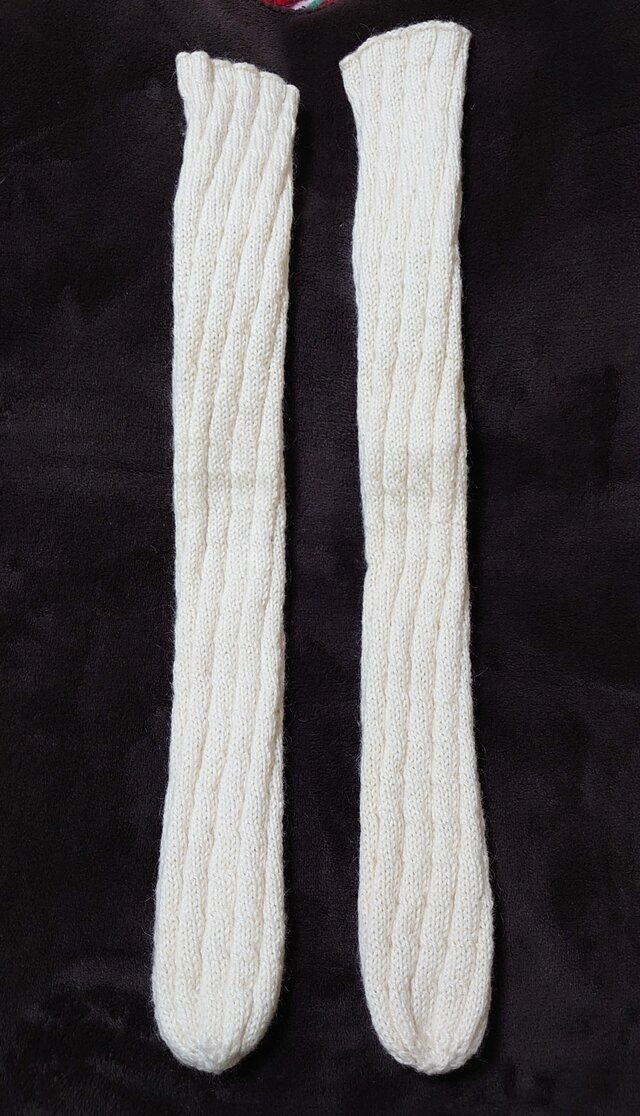 手編み靴下 スパイラルソックスの画像1枚目