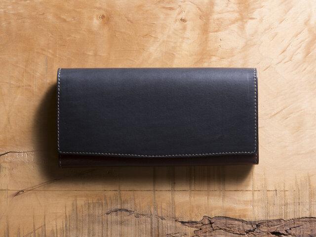 Basic Long Wallet #ネイビーの画像1枚目